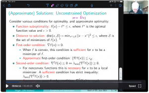 Slide from talk of Approximate Solutions: Unconstrained Optimization
